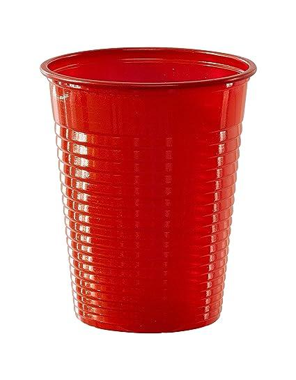50 Vasos Rojos De Plastico 20 Cl Amazon Es Juguetes Y Juegos