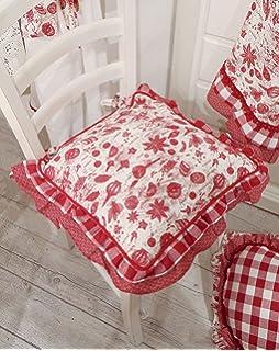 Cuscino per sedia gommapiuma double face Angelica Home & Country ...