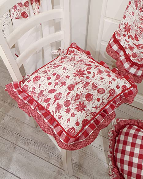 Cuscino per Sedia Country Chic Collezione Toile Spezie Angelica Home ...