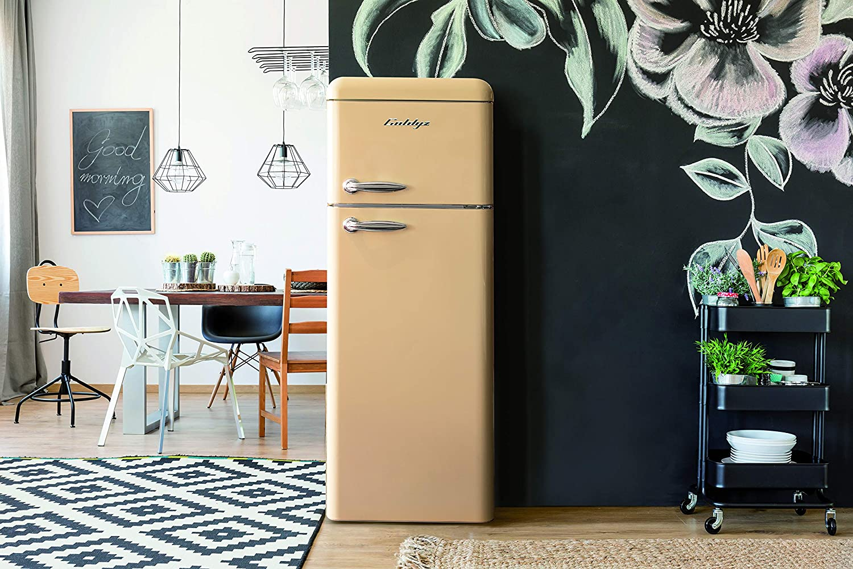 Retro Kühlschrank Pkm : Goldyz g retro kühl gefrier kombi creme a l nutzinhalt