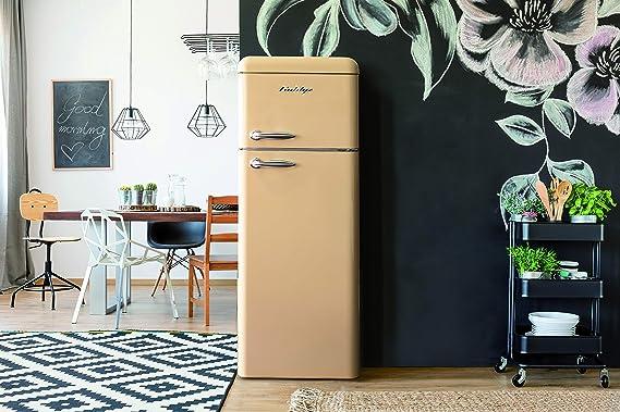 Retro Kühlschrank Creme : Goldyz g retro kühl gefrier kombi creme a l nutzinhalt