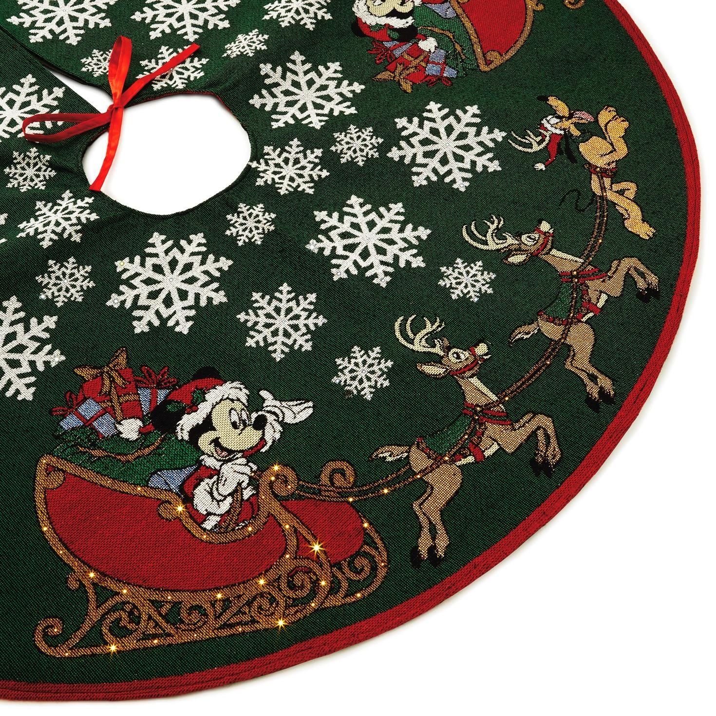 Hallmark Mickey Mouse Oh, What Fun! Tree Skirt with Light by Hallmark (Image #2)