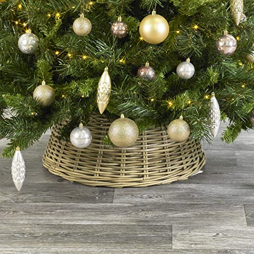 URBNLIVING - Faldas de Mimbre para árbol de Navidad (26 x 60 x 60 ...