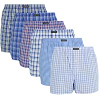 Lower East Herren American Boxershorts, 6er Pack