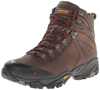Vasque Men's Taku Gtx Waterproof Hiking Boot,Slate Brown/Rumba Red,8 M US