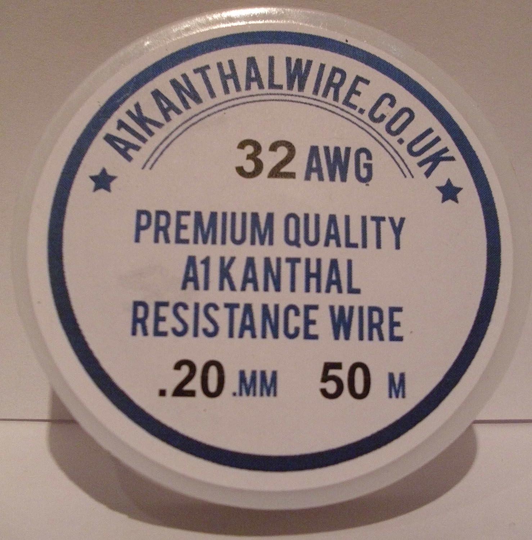 0,20/mm/ R/ésistance de type Kanthal A1/fil/ 32awg /46.2/ohms//M /Bobine 50/m/ /