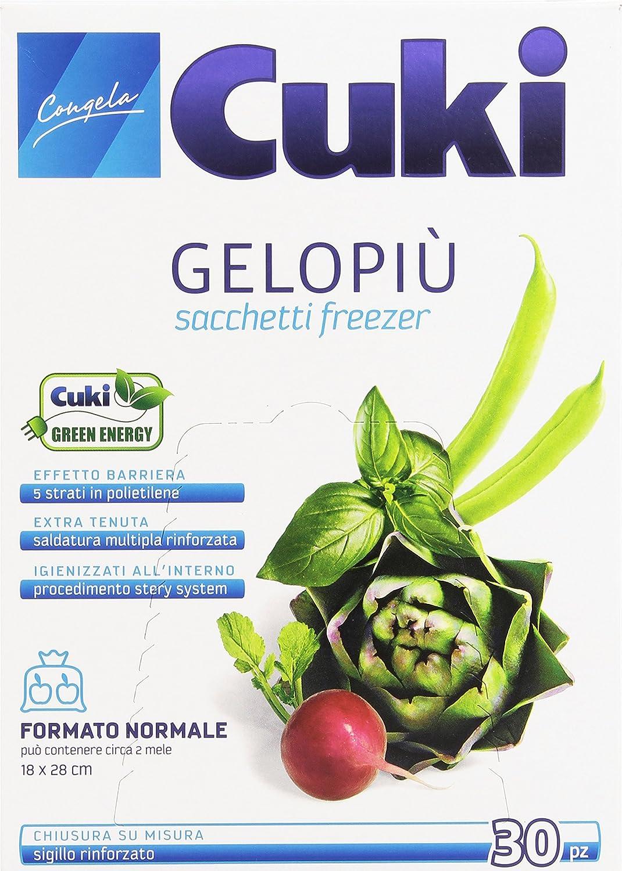 Cuki – Bolsas Congelación gelopiù, tamaño normal (18 x 28 cm) – 30 piezas