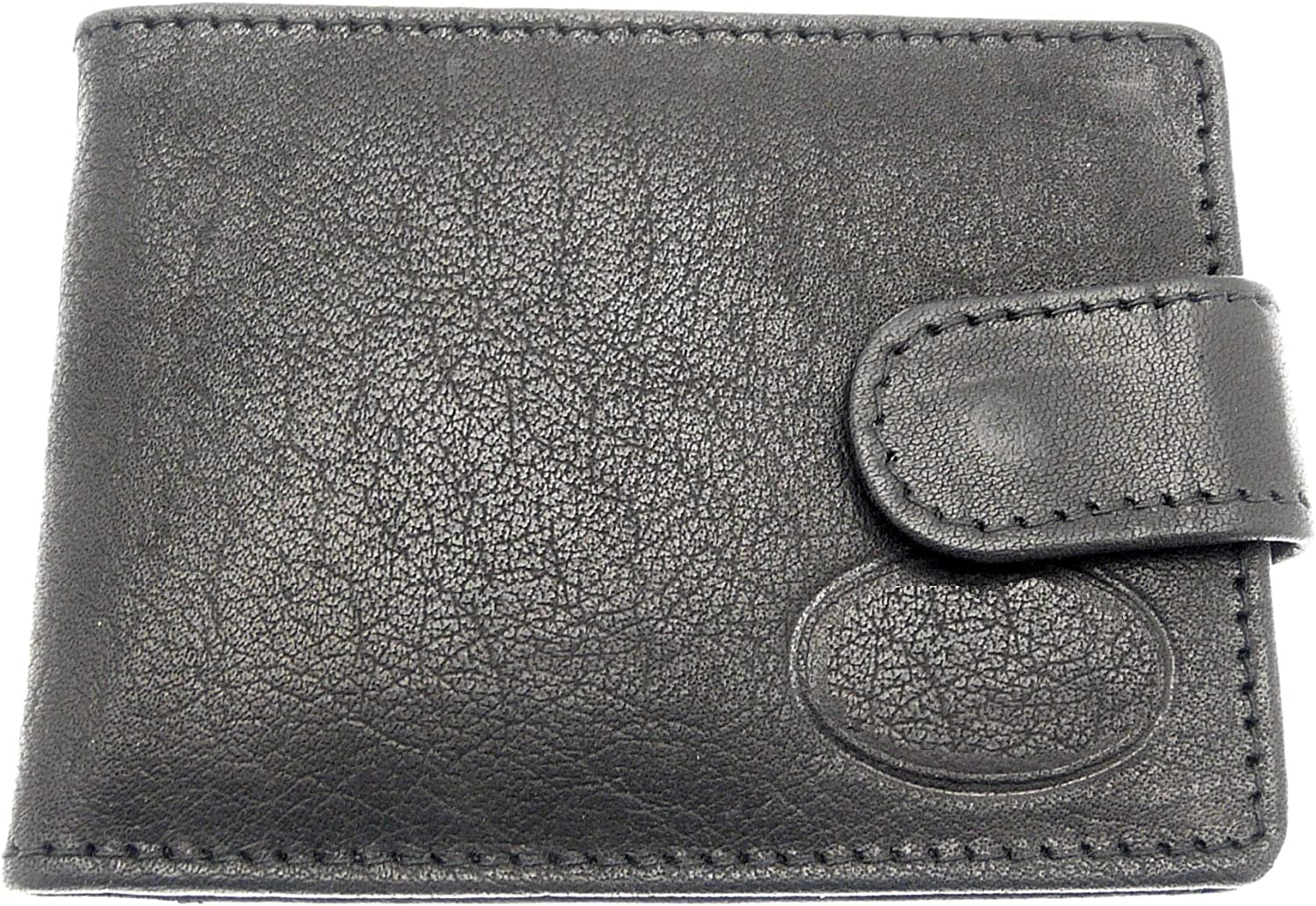 BLACK LEATHER Has 12 Credit Cards Slots Super Soft Leather Credit Card Holder With Popper Fastening