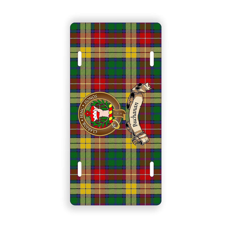 Buchanan Scottish Clan Tartan Novelty Auto Plate