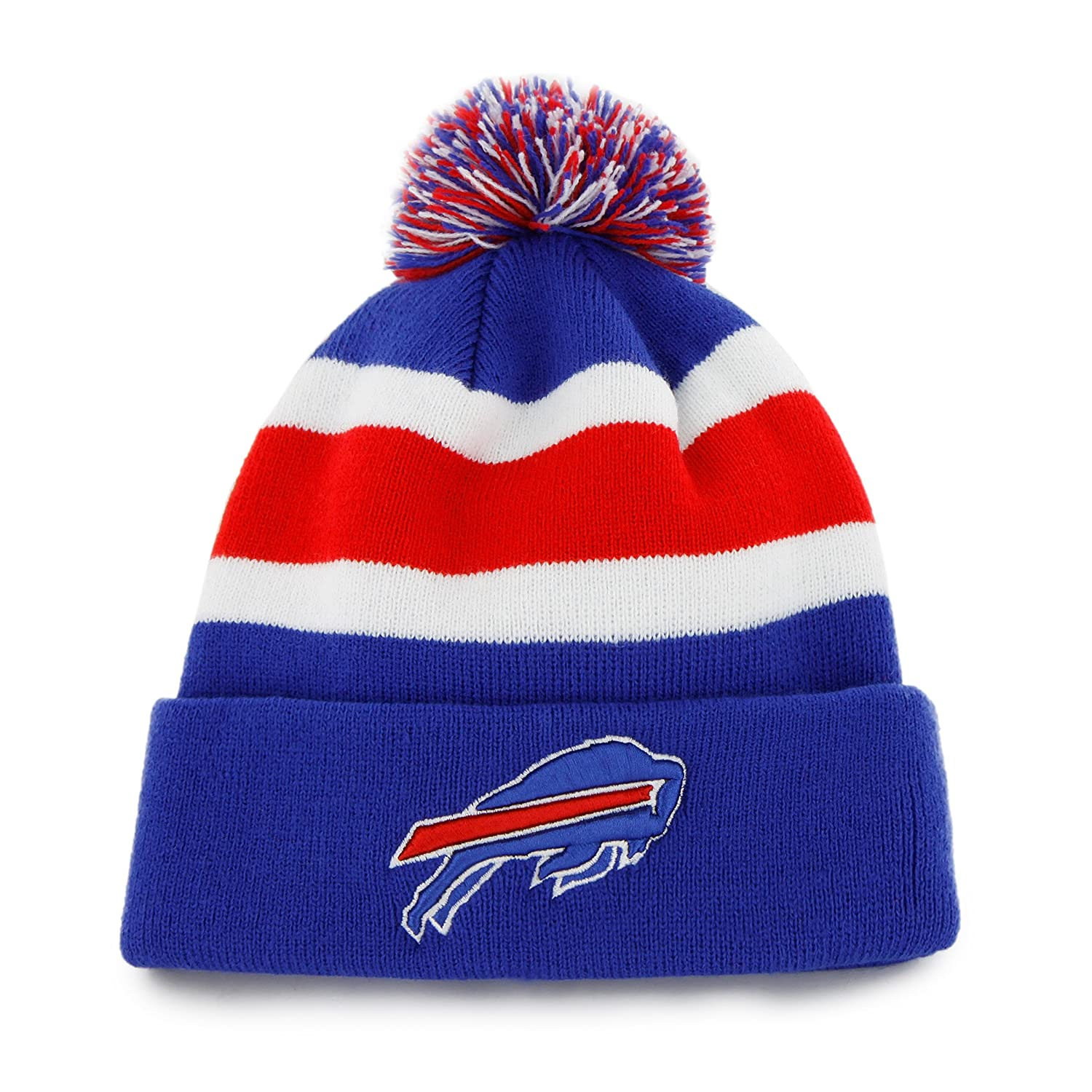 6847a89d3 Amazon.com : NFL Buffalo Bills Men's Breakaway Knit Cap, One Size, Sonic  Blue : Sports Fan Baseball Caps : Clothing
