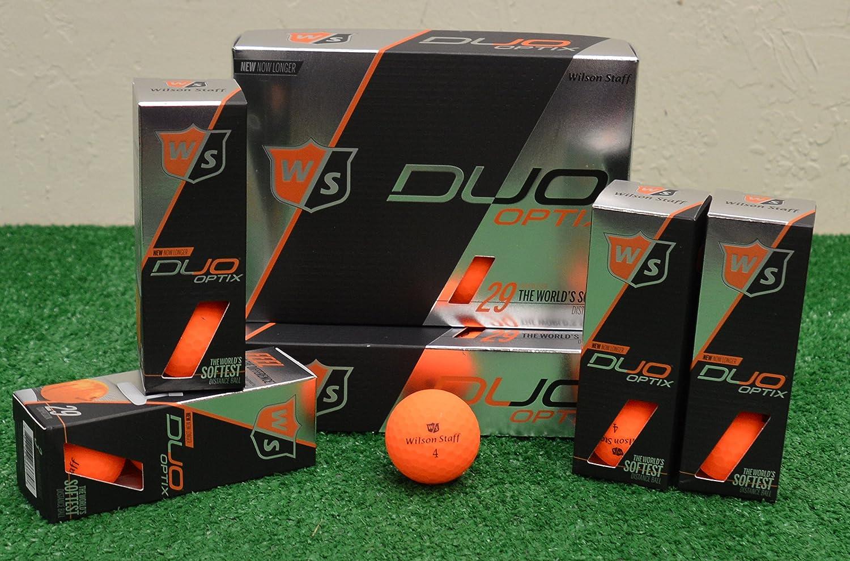 3ダースウィルソンスタッフDuo Optix – マットオレンジゴルフボール B078YG471G