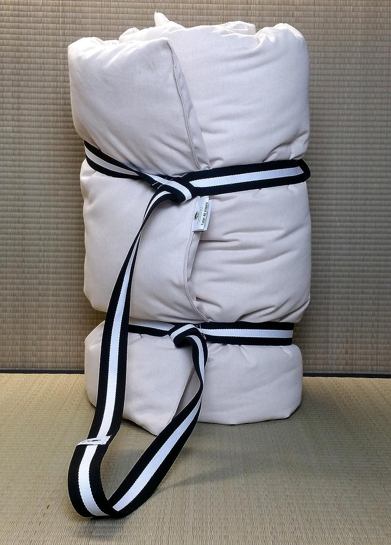 Futon in puro cotone da viaggio, da massaggio, per yoga, trasportabile. Misure 80 X 200 cm X 7/8 CM. FutonItaly
