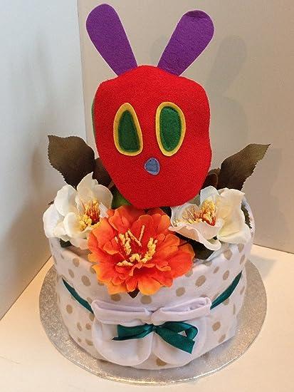 1 Tier lujo Unisex Hungry Caterpillar – tarta de pañales para bebé regalo