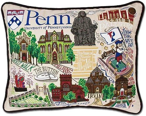 Catstudio University of Pennsylvania Collegiate Embroidered Decorative Throw Pillow
