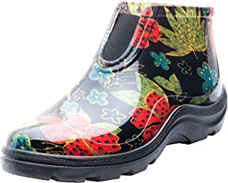 product image for Sloggers Women's Waterproof Rain and Garden Ankle Boots with Comfort Insole, Midsummer Black, Size 10, Style 2841BK10