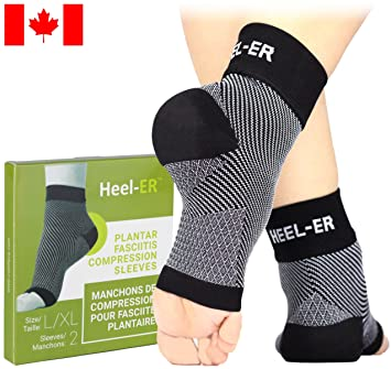 2e9a8a271f Plantar Fasciitis Socks - Heel-ER High Quality Compression Foot Sleeves  with Arch & Ankle Support - Brace ...
