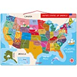 Janod Magnetic USA Map, 19.7-Inches x 13.4-Inches