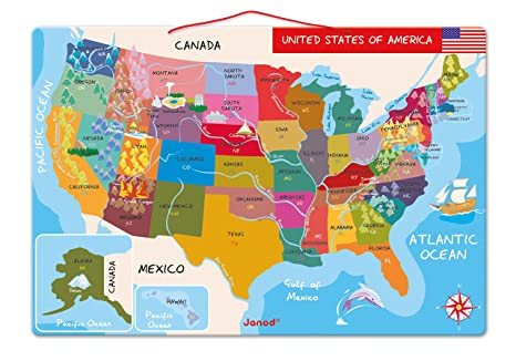 janod magnetic usa map 197 inches x 134 inches