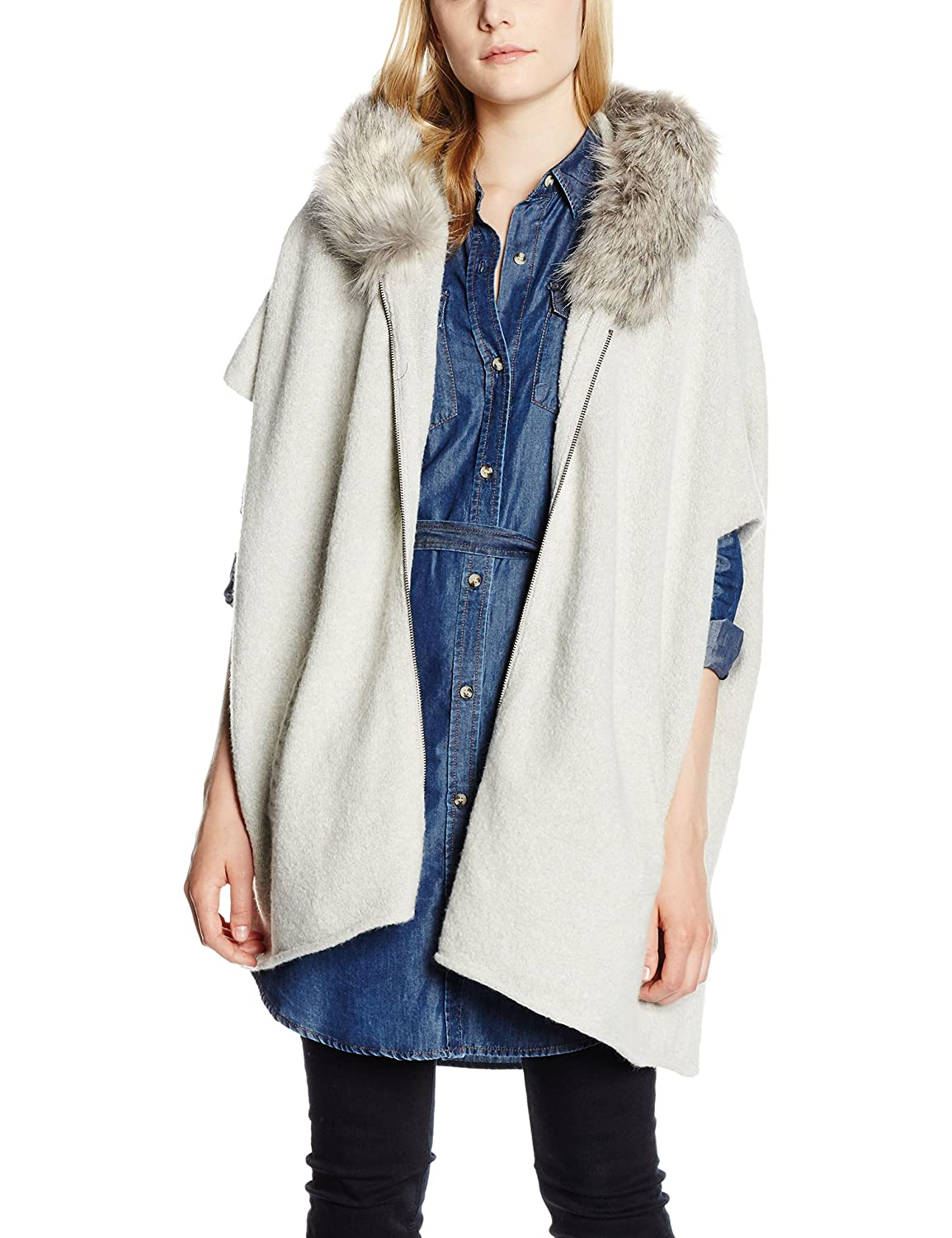 French Connection Damen Autumn Rsvp Hooded Poncho