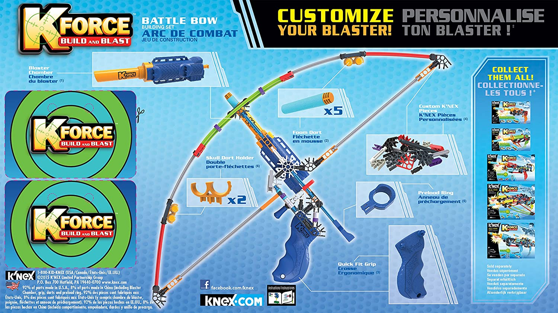 Knex K-Force Battle Bow Building Set, Gear Sets - Amazon Canada