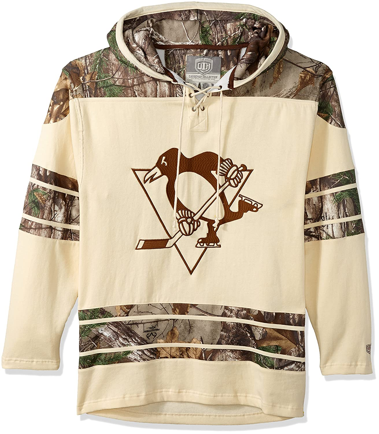 7ef0afb21 Amazon.com   Old Time Hockey NHL Pittsburgh Penguins Sidney Crosby Men s  Realtree Lacer Name   Number Hoodie