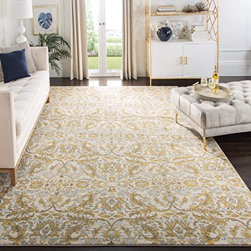 Safavieh Evoke Collection EVK238S Contemporary Ivory and Gold Area Rug 9 x 12