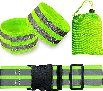 1Pcs Reflective Safety Bands Visibility Wrist Arm Ankle Walking Ni Leg Band I8L8