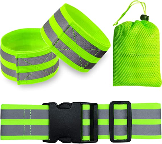 Details about  /Safety Reflective Arm Band Belt Strap For Night Running Bike Outdoor Sports New
