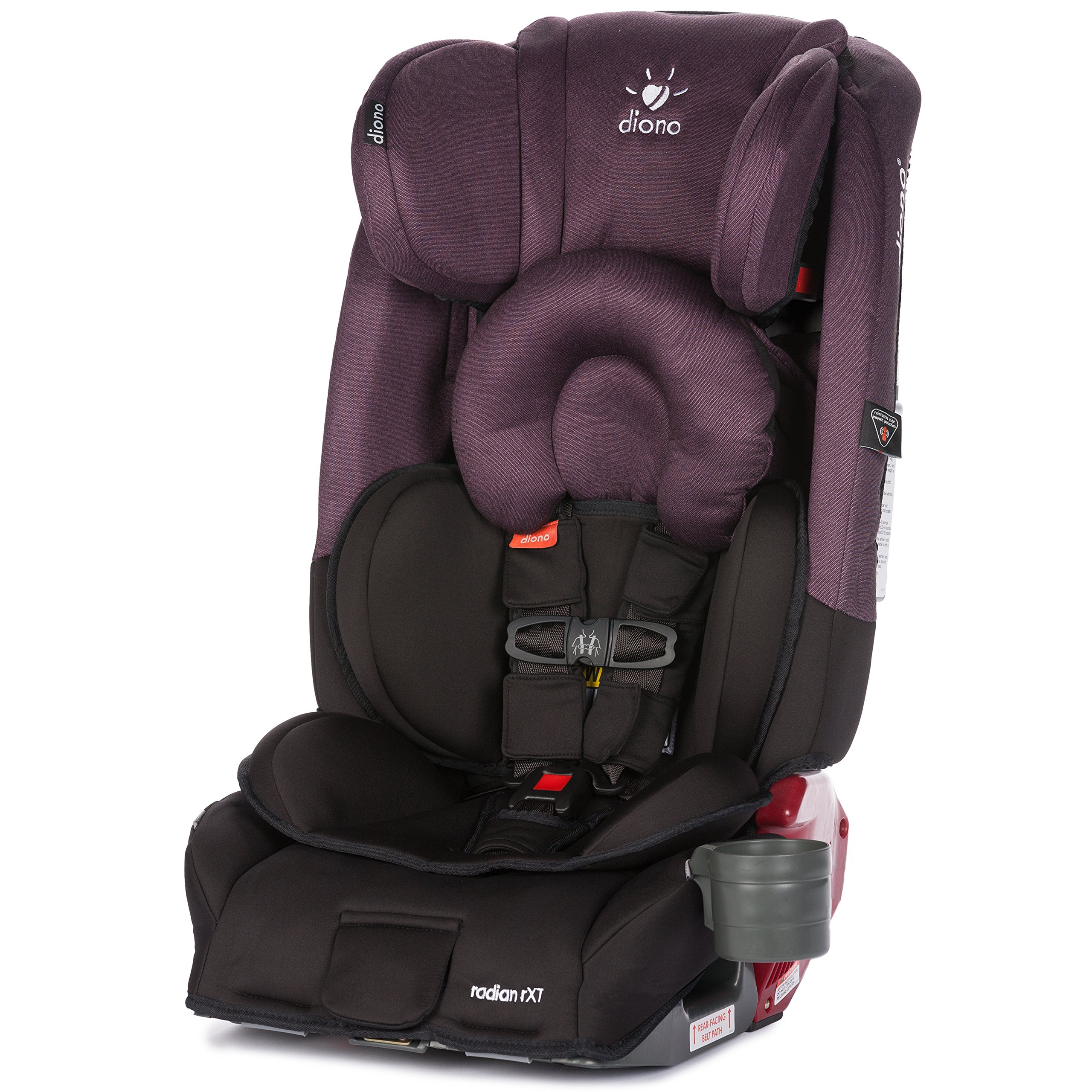 Diono Radian RXT All-In-One Convertible Car Seat, Black Plum