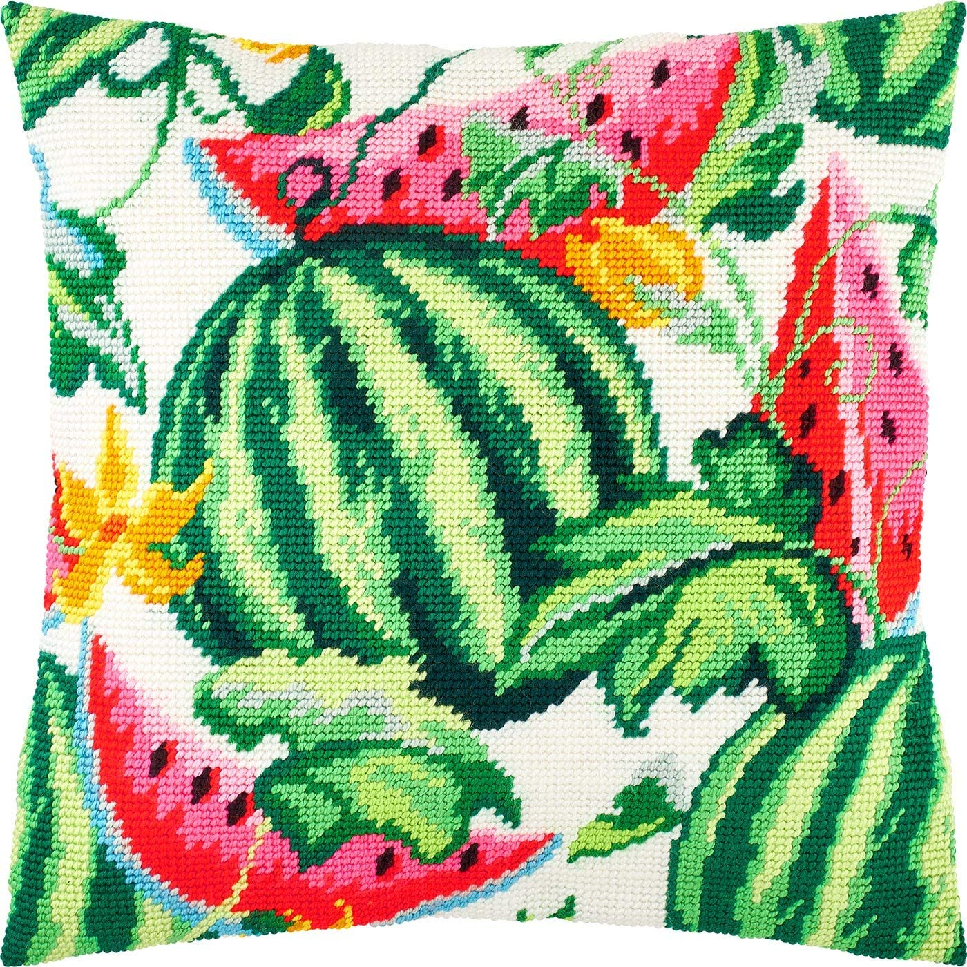 Watermelons Throw Pillow 16/×16 Inches Printed Tapestry Canvas Needlepoint Kit European Quality