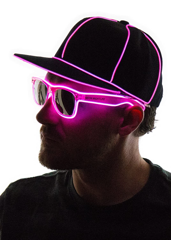 a93158edca3 Neon Nightlife Light up Snapback Hat Blue SNAPBACK-BLUE  1541027053 ...