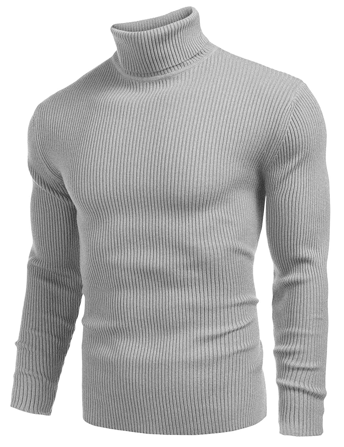 417968c8 High Quality Material : Cotton and polyester, optimal softness and  durability. Mens Knit Turtleneck Sweater:slim fit,thick cotton knit trim, long  sleeve ...