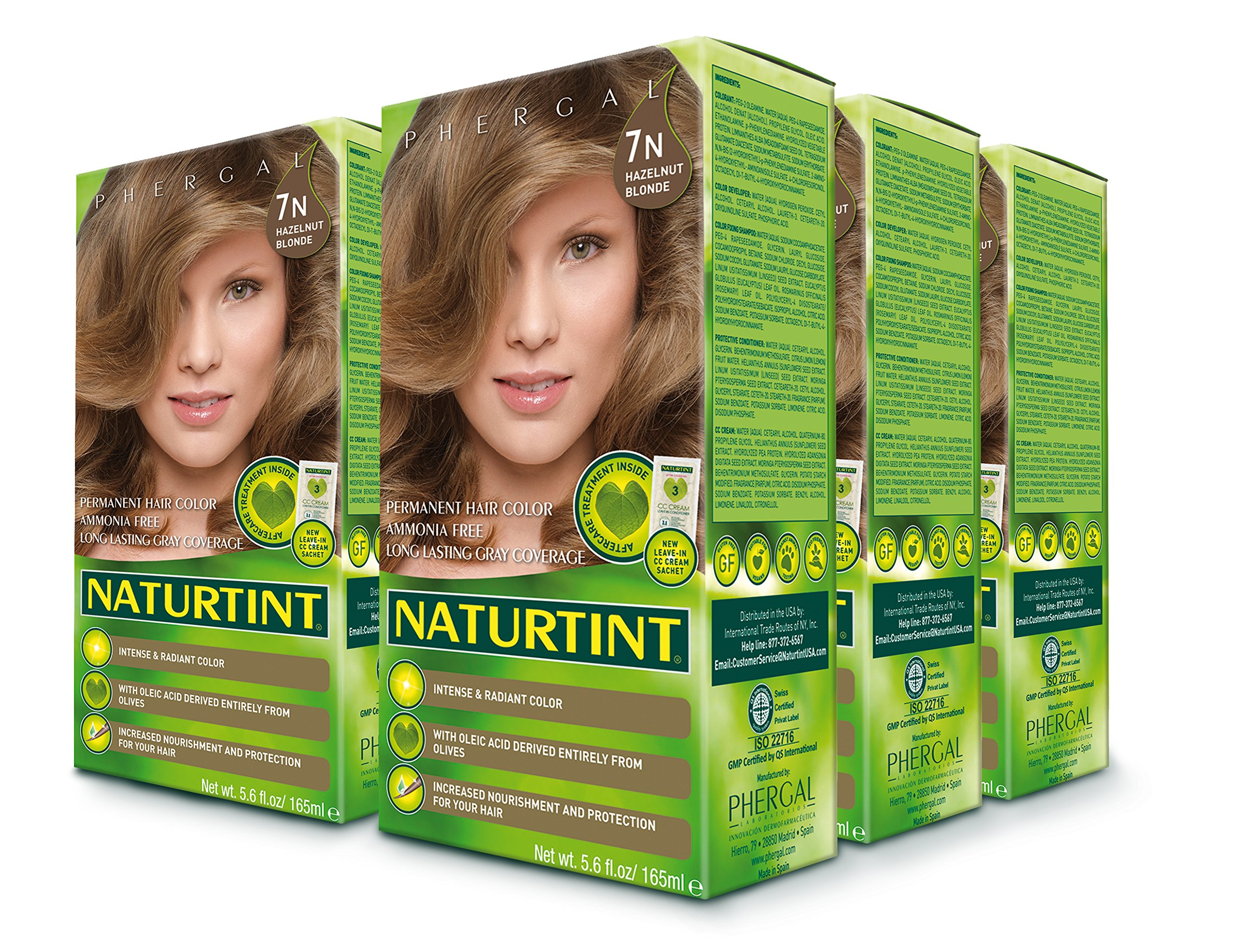 Naturtint Permanent Hair Color - 7N Hazelnut Blonde, 5.28 fl oz (6-pack)
