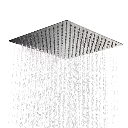 Kiarog 12 Inch 12 Large Square Rain Shower Head 12 Inch Side 1