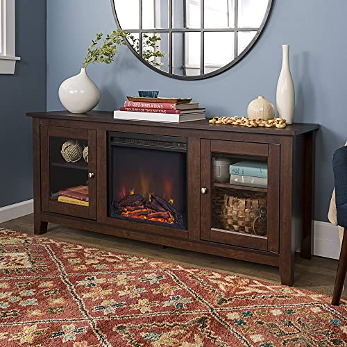 Home Accent Furnishings 58″ Traditional Electric Fireplace TV Stand