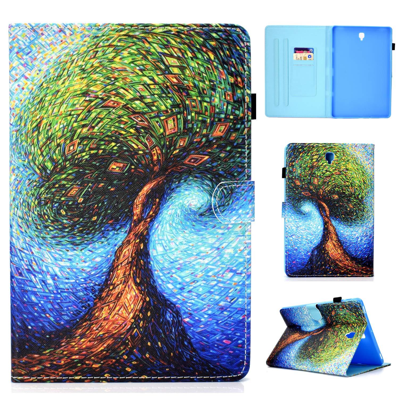Galaxy tab s4 10.5 ケース、Cookk プレミアム PU レザー プロテクティブ スマート Galaxy Tab S4 カバー オートウェイク/スリープ[磁気バックル] キックスタンド ウォレットケース Samsung Galaxy Tab S4 10.5インチ CK-2018  #003 Life Tree B07JX8WZXY