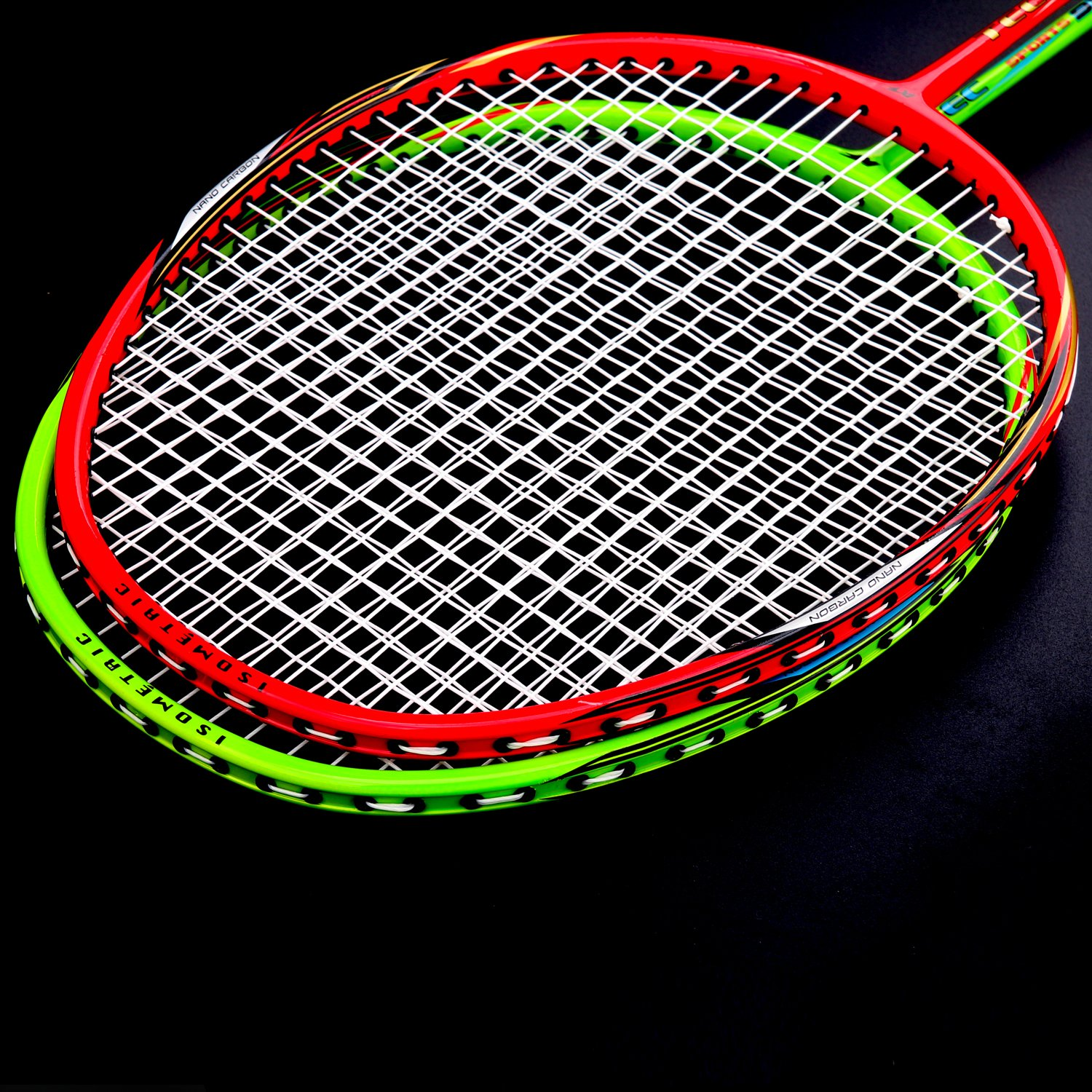 L.E.D STEP Badminton Rackets Light Racket Set from Tournament Professional  2 Carbon Fiber Shaft Racquets Included 7b991d6f8f280