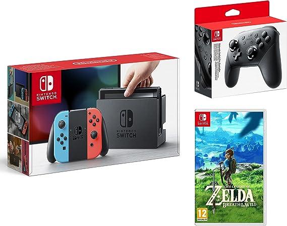 Nintendo Switch consola 32gb azul/rojo Neón + The Legend of Zelda ...