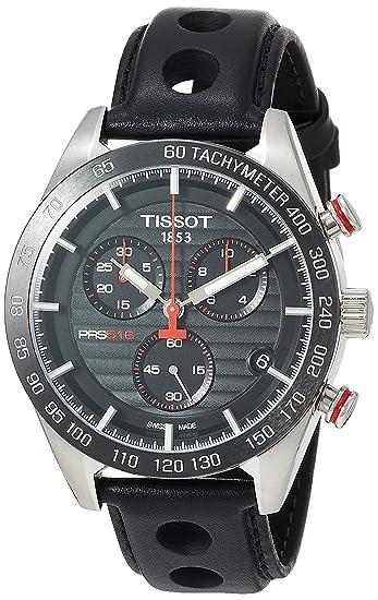 TISSOT RELOJ DE HOMBRE CUARZO 42MM CORREA DE PIEL DE TERNERO T1004171605100: Amazon.es: Relojes