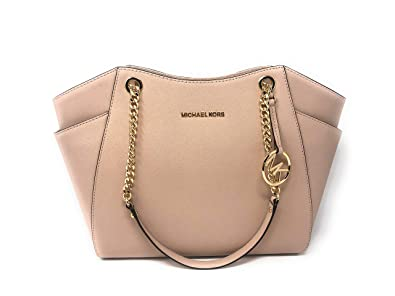 d1d586f693b6 MICHAEL Michael Kors Women s Jet Set Travel Saffiano Large Chain Shoulder  Tote