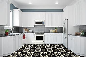 Ruvitex 3D Küche Boden Vinyl Dekor PVC Bodenbelag Teppich ...