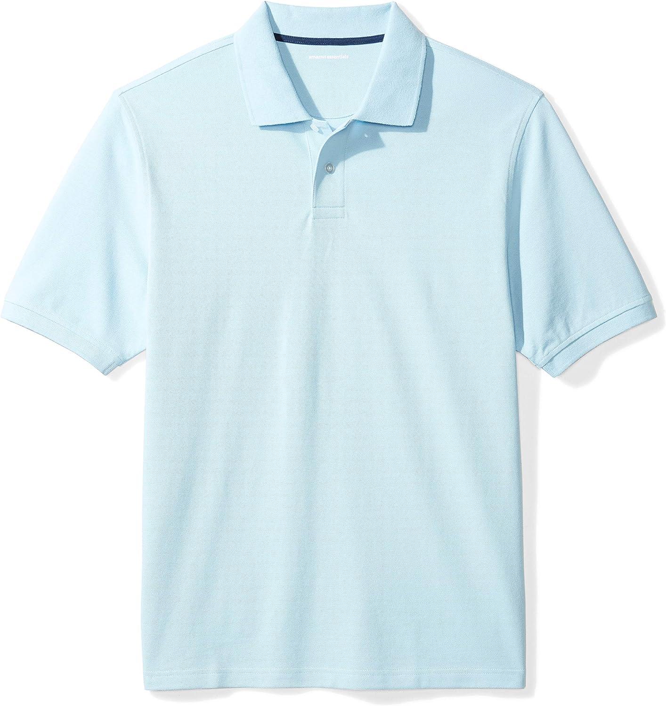 Essentials Regular-Fit Striped Cotton Pique Polo Shirt Uomo