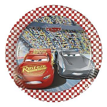 Procos 87921 - Platos Papel Cars 3, Rojo: Amazon.es ...