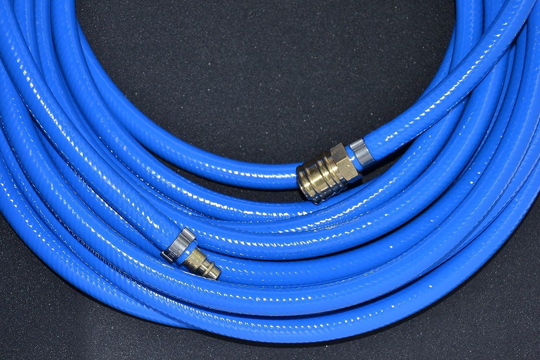 Schlauch /ø6mm // L/änge 5m Druckluftschlauch Gewebeschlauch Kompressorschlauch Schnellkupplung 5-50m