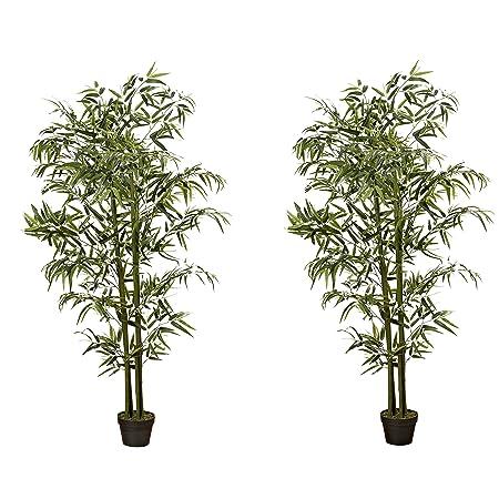 Bambus Im Topf H180cm Material Kunststoff Amazon De Kuche Haushalt