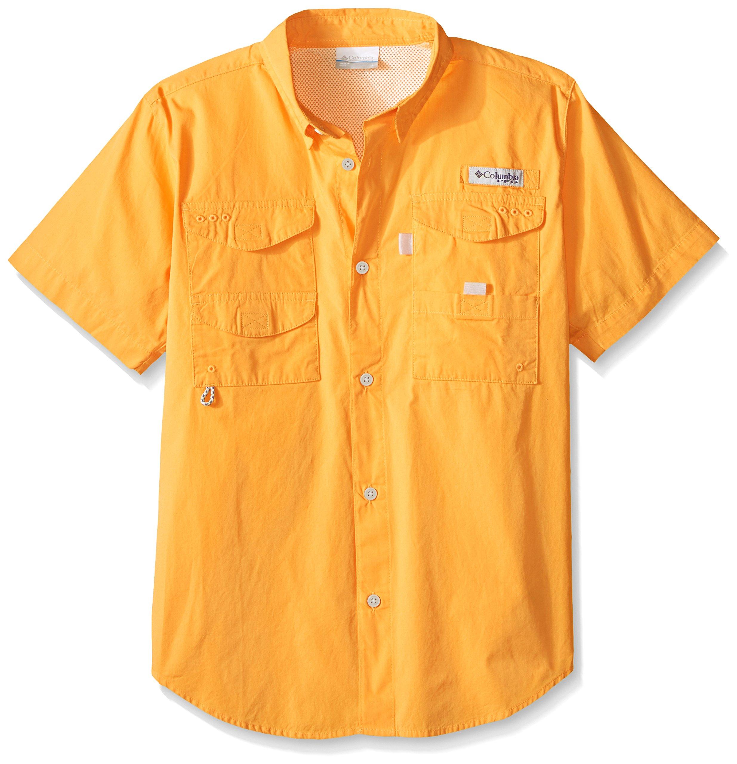 Columbia Boys Bonehead Short Sleeve Shirt, Koi, Medium