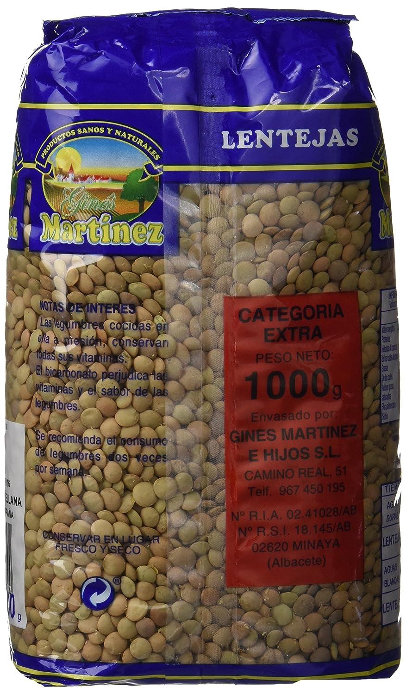 Ginés Martínez Lentejas Castellanas - 1 kg - [Pack de 10]: Amazon.es: Alimentación y bebidas