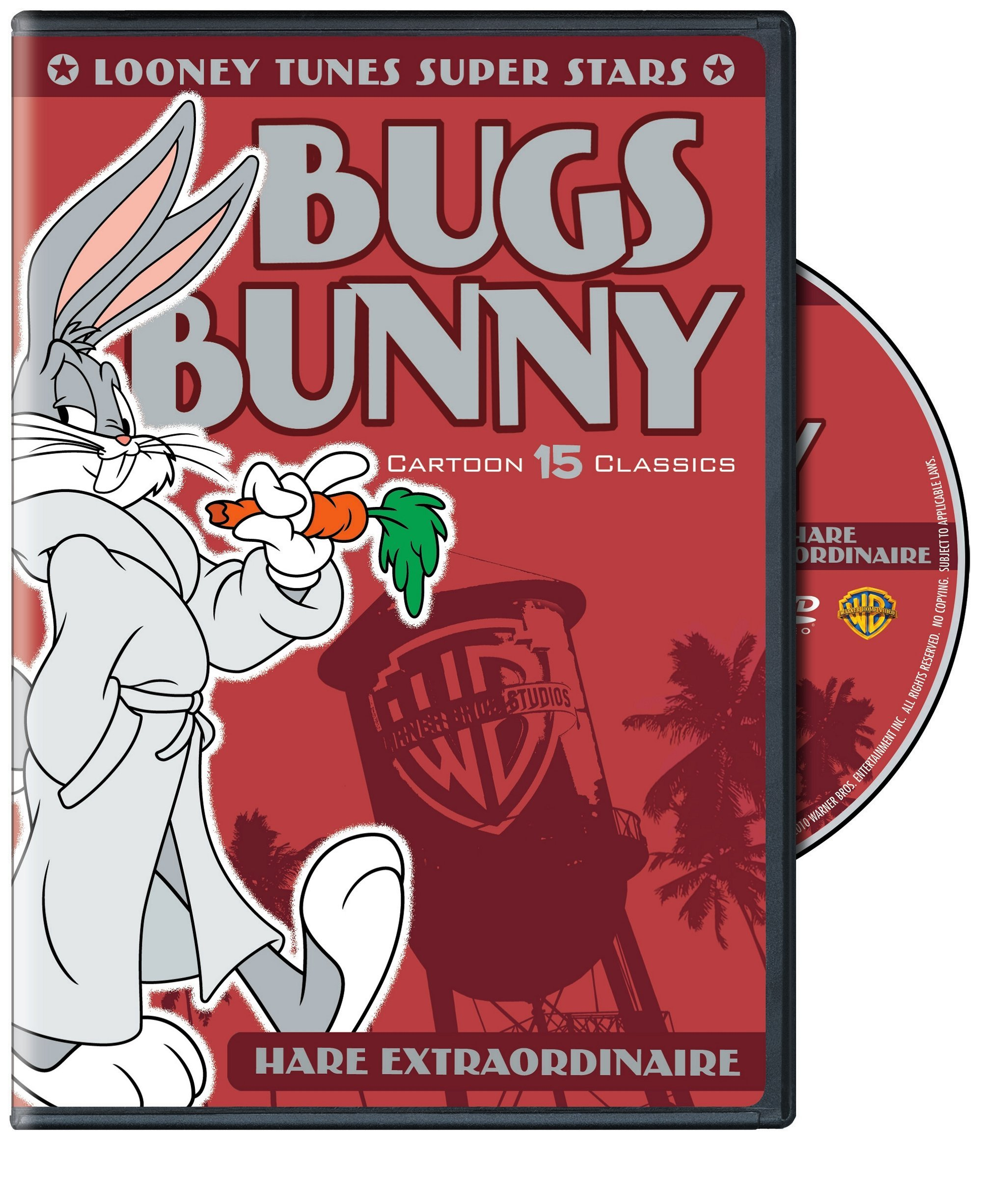 DVD : Looney Tunes Super Stars: Bugs Bunny Hare Extraordinaire (Remastered, Restored, Eco Amaray Case)