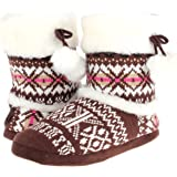 Enimay Women's Slipper Boots Lounge House Relaxed Shoes Winter Snow Flakes Hearts