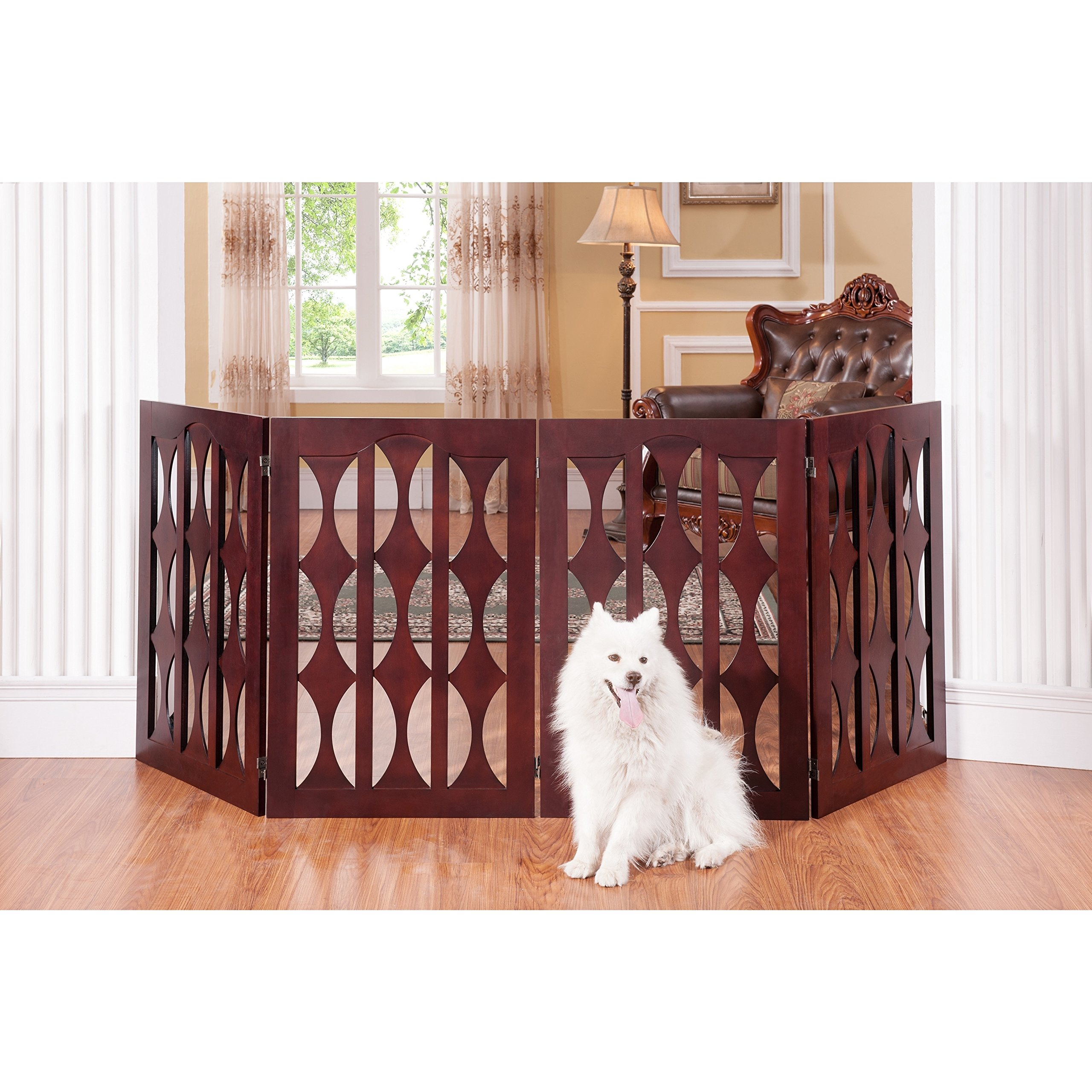 Elegant Home Fashions Agatha 4-panel 36-inch Pet Gate by Elegant Home Fashions